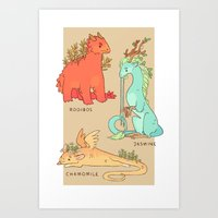Common Tea Dragons Art Print