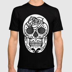 Sugar Skull SMALL Black Mens Fitted Tee