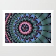 Cool abstract flower Art Print