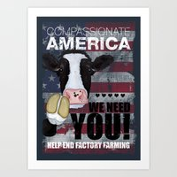 Compassionate America We Need You Art Print