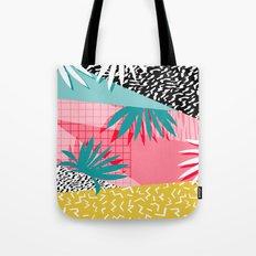 Bingo - throwback retro memphis neon tropical socal desert festival trendy hipster pattern pop art  Tote Bag