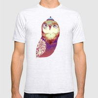 Purple Owl Mens Fitted Tee Ash Grey SMALL