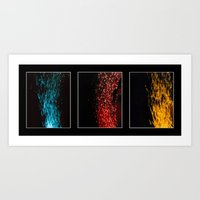Primary Colors Composite Art Print