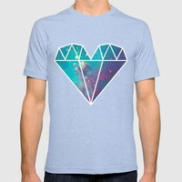 Lucy Mens Fitted Tee Tri-Blue SMALL