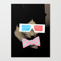 Hip Cat Canvas Print