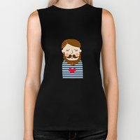 Bearded Sailor Lover Biker Tank