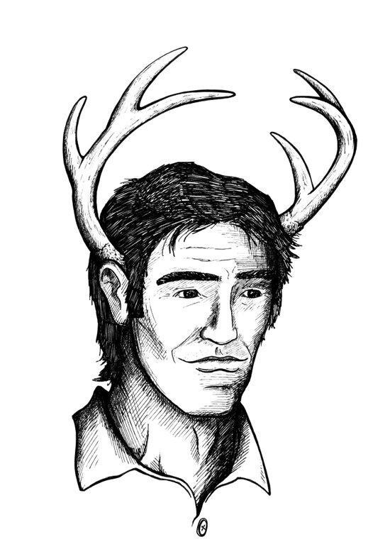 Deer John Art Print