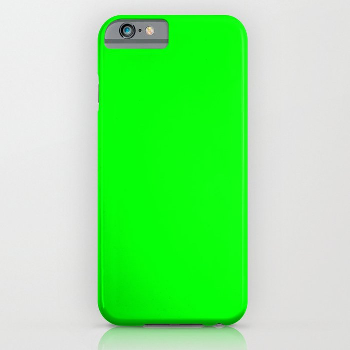 electric green iphone amp ipod case by list of colors society6