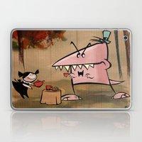 Dennis Dinosaur Hates Af… Laptop & iPad Skin
