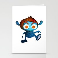 Mr. Blue Stationery Cards