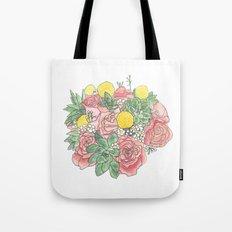 Succulent Watercolor Bouquet Tote Bag