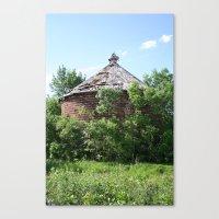 Brick Corn Crib Canvas Print