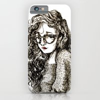 Girl with glasses iPhone 6 Slim Case