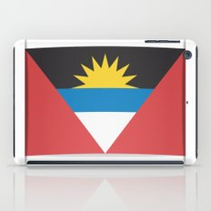 Flag of Antigua and Barbuda.  The slit in the paper with shadows.  iPad Case