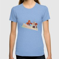 Flying Around Womens Fitted Tee Tri-Blue SMALL