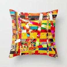 Jiseo (stripes 12) Throw Pillow