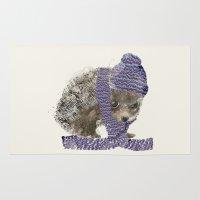 little winter hedgehog Rug