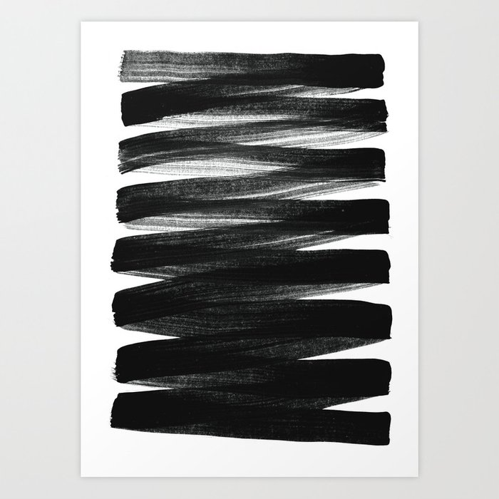 Sunday's Society6 | Black and white painting stripes art print