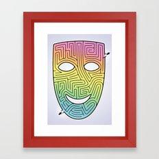 Mask Maze Framed Art Print