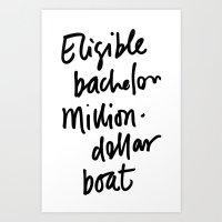 Eligible Bachelor (inver… Art Print