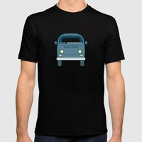 #52 Volkswagen Type 2 Bu… Mens Fitted Tee Black SMALL