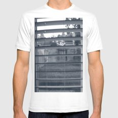 Black & White Background Mens Fitted Tee White SMALL