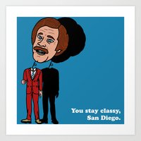 Ron Burgandy Art Print