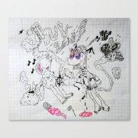 Fraggled Canvas Print