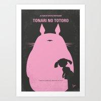 No290 My Neighbor Totor minimal movie poster Art Print