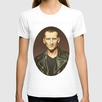 The Ninth Doctor Womens Fitted Tee White SMALL