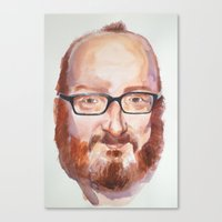 Portrait of Brian Posehn Canvas Print