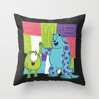 Monster Time Throw Pillow