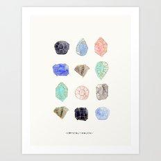 Iridescent Stones Art Print