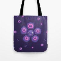 Purple Evil Flower Tote Bag