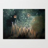 Fireworks Face Canvas Print