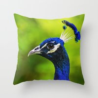 Pretty As A Peacock I Throw Pillow