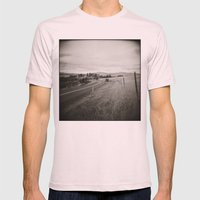{  on the road } Mens Fitted Tee Light Pink SMALL
