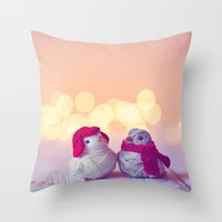 Happy Holidays, Christmas and Winter Photography Throw Pillow