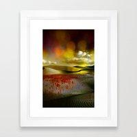 Blood and Bokeh Framed Art Print