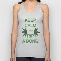 Keep Calm and Rip a Bong Unisex Tank Top
