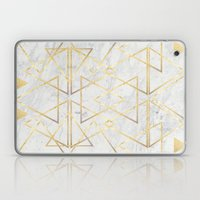 wire gOld triangle Laptop & iPad Skin