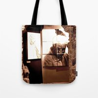 Trapped Man Tote Bag