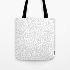 Pale Gray Leopard Tote Bag
