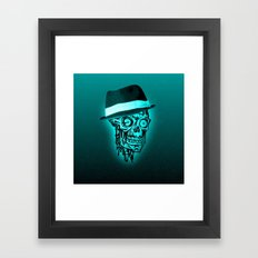 Elegant Skull with hat,mint Framed Art Print