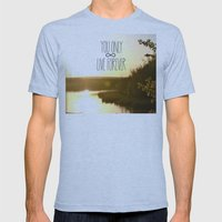 You Only Live Forever Mens Fitted Tee Athletic Blue SMALL