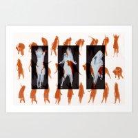 Orange dancer Art Print