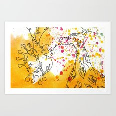Polychromatic Confetti Art Print