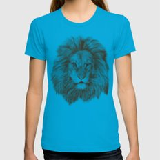 Leo Womens Fitted Tee Teal SMALL