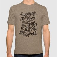 LOVE IS PATIENT... Mens Fitted Tee Tri-Coffee SMALL