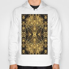 Beautiful Gold Brown  Traditional Pattern Hoody